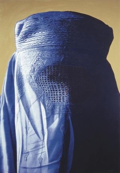 Obra d'Antoni Miró 'Burka blau', inclosa a l'antològica de l'IVAM. /ANTONI MIRÓ