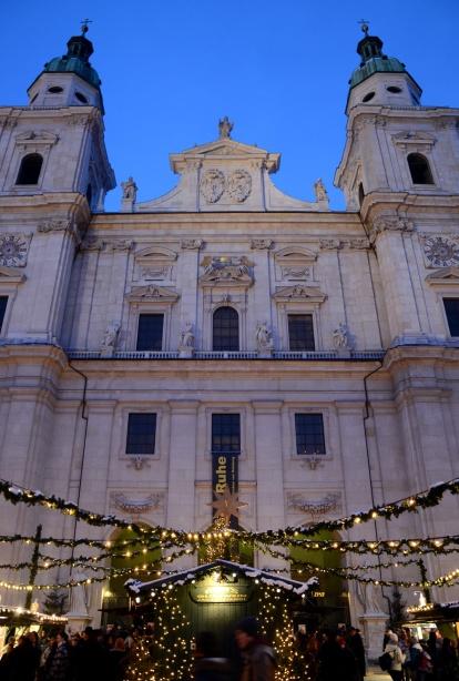 Christkindlmarkt de Salzburg a la catedral