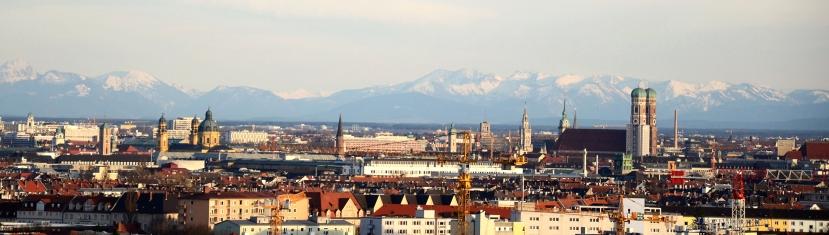 Vista dels Alps des d'Olympiapark