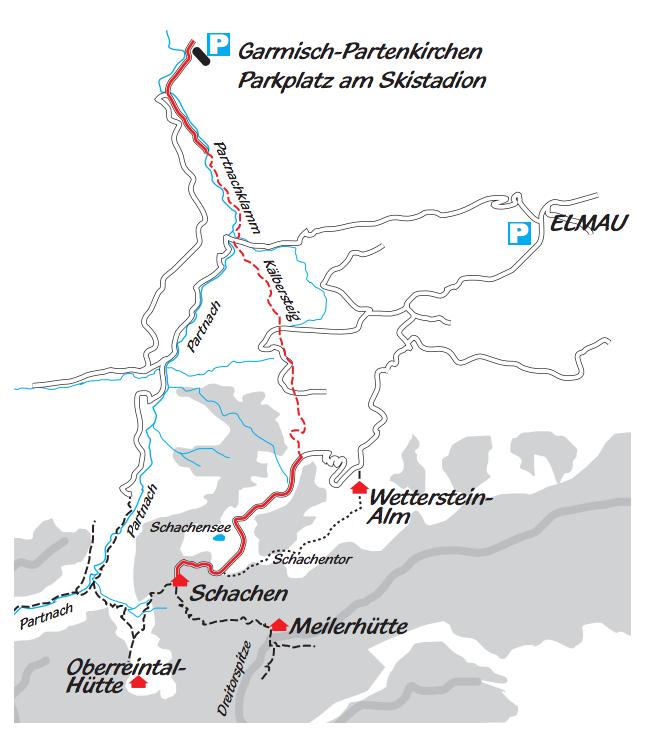 Nuestro itinerario. /SCHACHENHAUS.DE