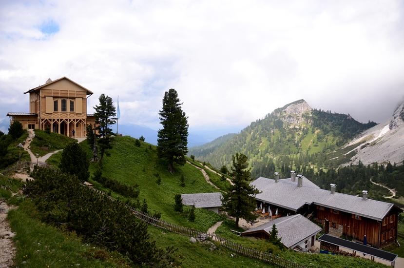 La Königshaus am Schachen y el valle