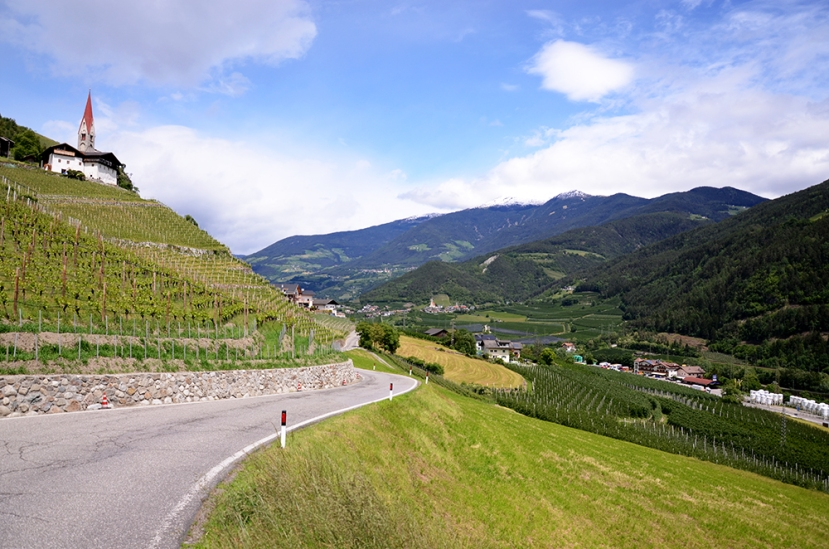 Tirol del Sur: viñedos y campos de manzanas