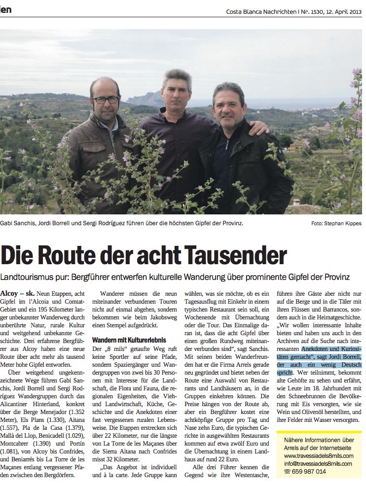 Reportatge publicat al diari CBN, en alemany. /CBN