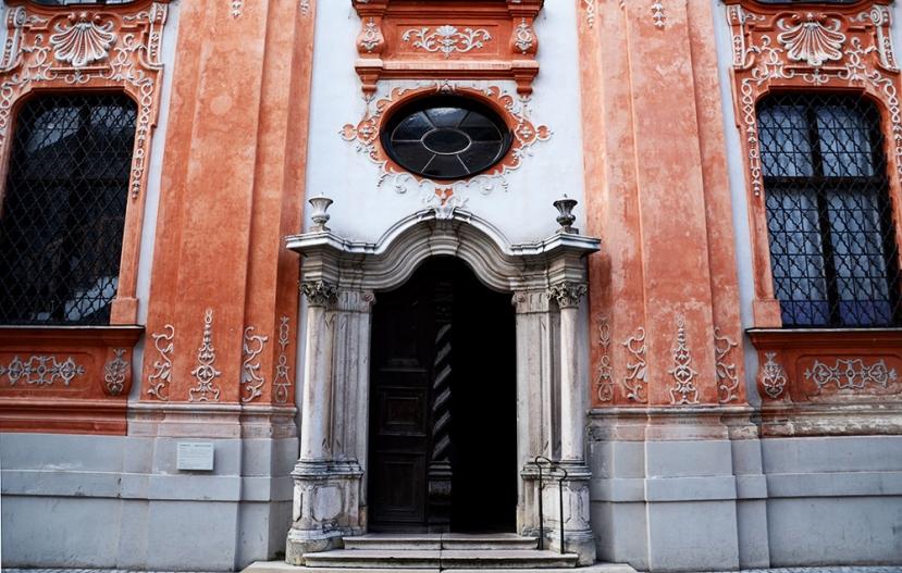 Detall de la façana de l'Asamkirche d'Ingolstadt