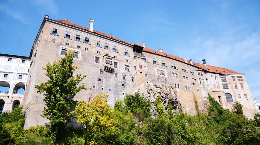 Vista parcial del castillo