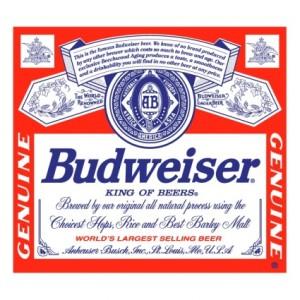 Etiqueta de la Budweiser americana
