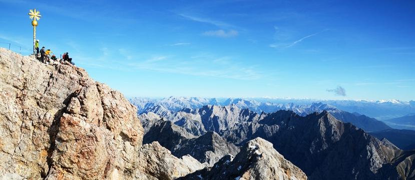 Vista desde la cima del Zugspitze