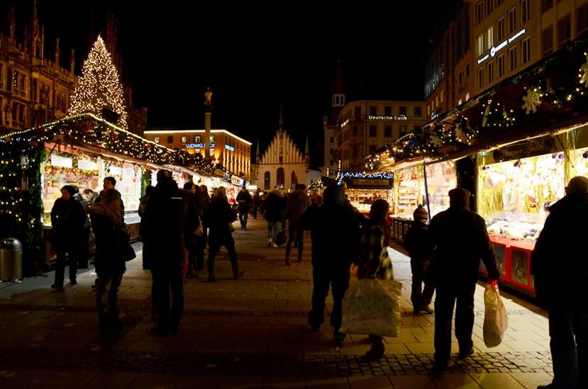 Marienplatz, primer dia a la nit