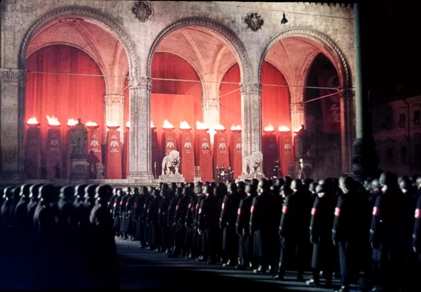 Homenaje a los caídos en la Feldherrnhalle durante el nazismo