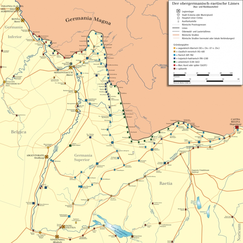 Lindes del Imperio romano en Germania. /WEB