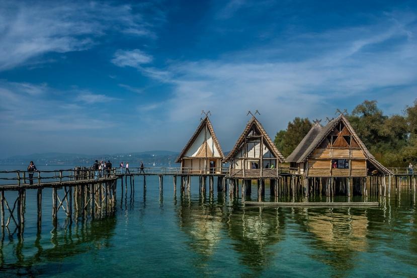Palafitos históricos en el lago Constanza (en el lado de Baden-Württemberg. /CC HELMUTHESS