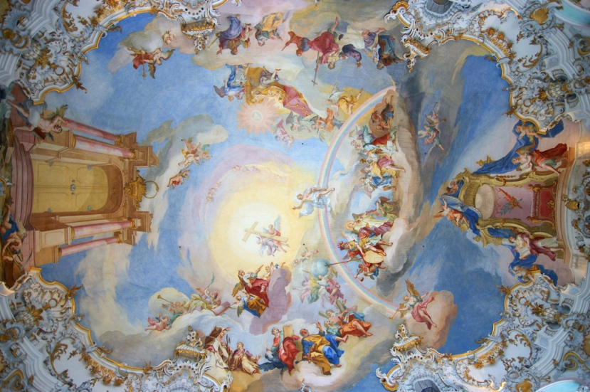 Fresco en la Wieskirche. /CC ALLIE CAULFIELD