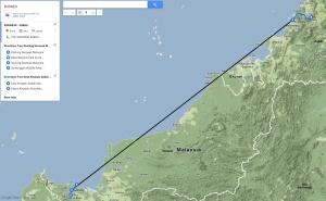 Ruta en Borneo