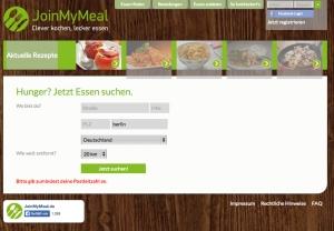 Captura de pantall de la web. /JOINMYMEAL.COM