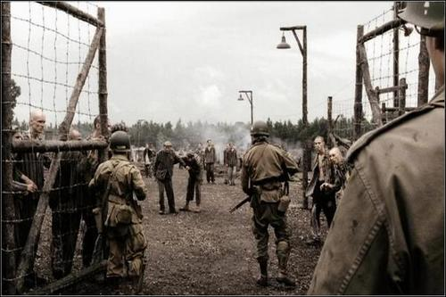 Fotograma de 'Band of Brothers', a les portes de Kaufering. /WEB