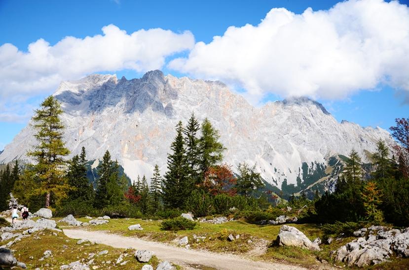 El Zugspitze, visto a la bajada