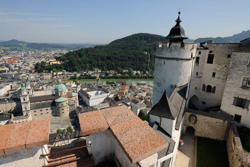 Vista desde la fortaleza. /SALZBURG FESTUNG