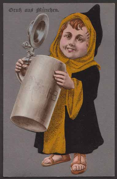El Münchener Kindl en una imagen antigua