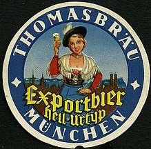 Un posavasos de la vieja Thomasbräu