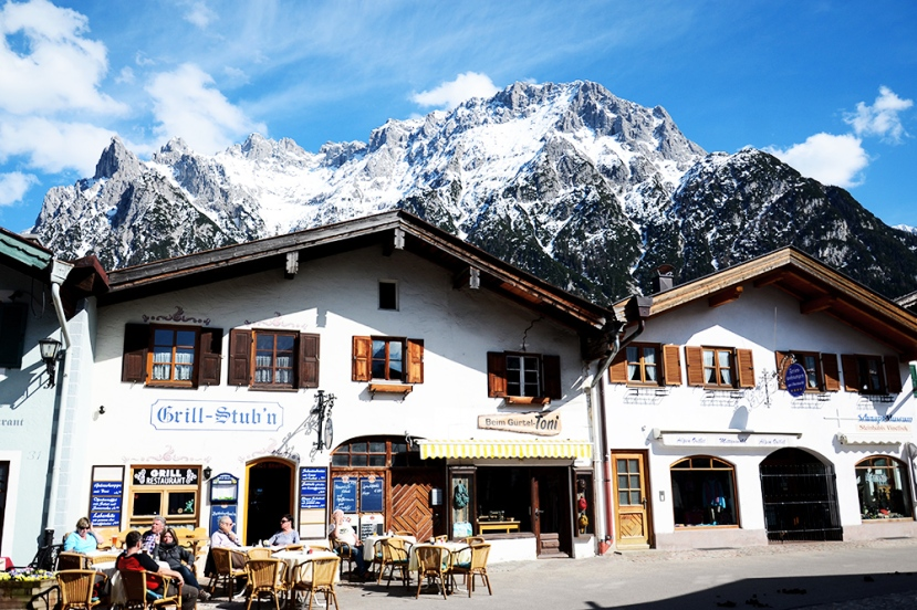 Els pics noroccidentals del Karwendel, des de Mittenwald